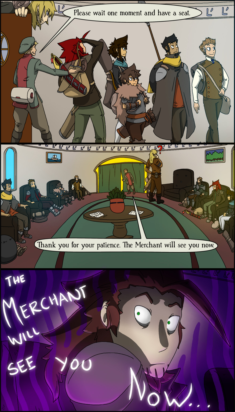 Zack is still uneasy from his last meeting with the Merchant.